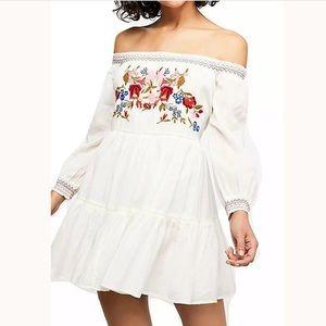 Free People Sunbeam embroidered dress NWT
